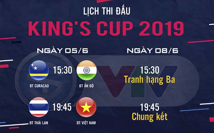 Lịch thi đấu King's Cup 2019